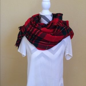 Accessories - Flannel Holiday Blanket Scarf